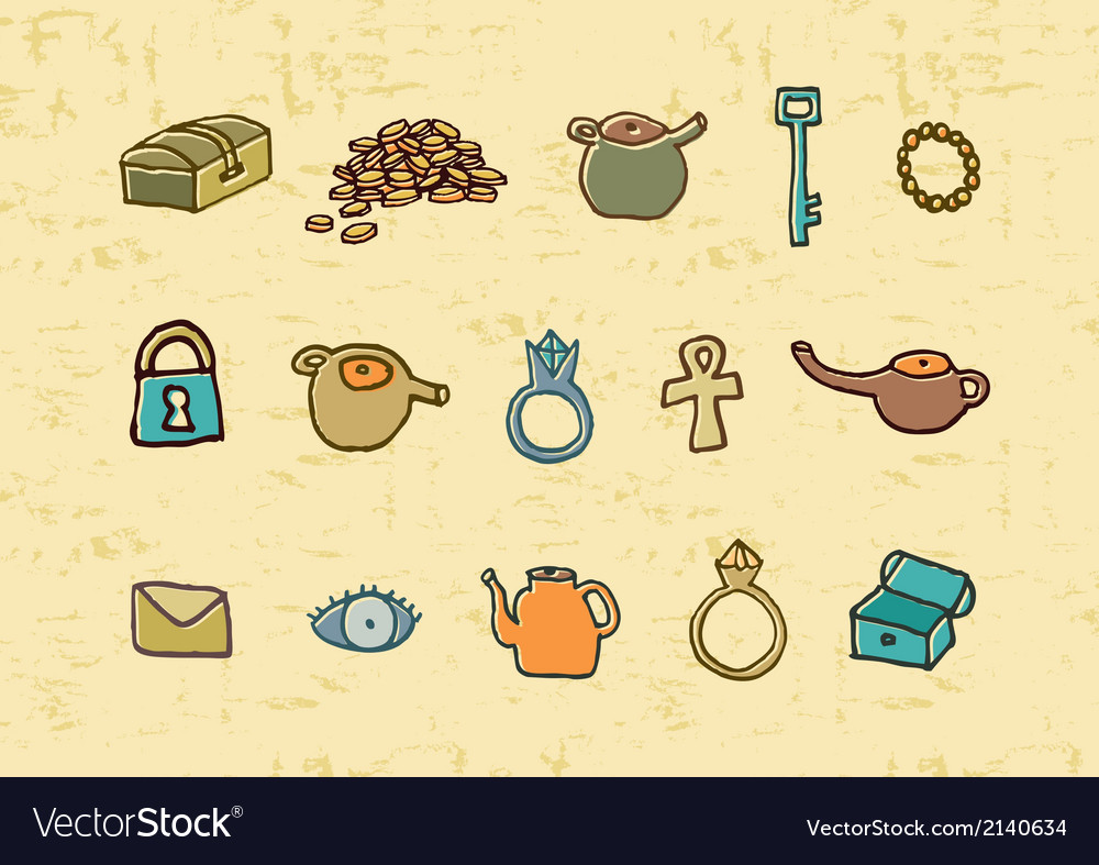 Treasure elements vector | Price: 1 Credit (USD $1)