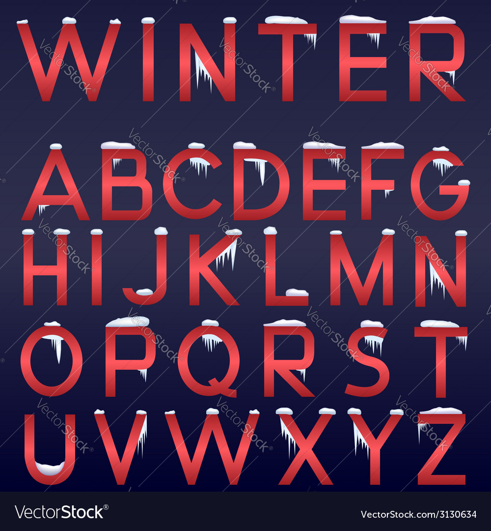 Winter alphabet vector | Price: 1 Credit (USD $1)