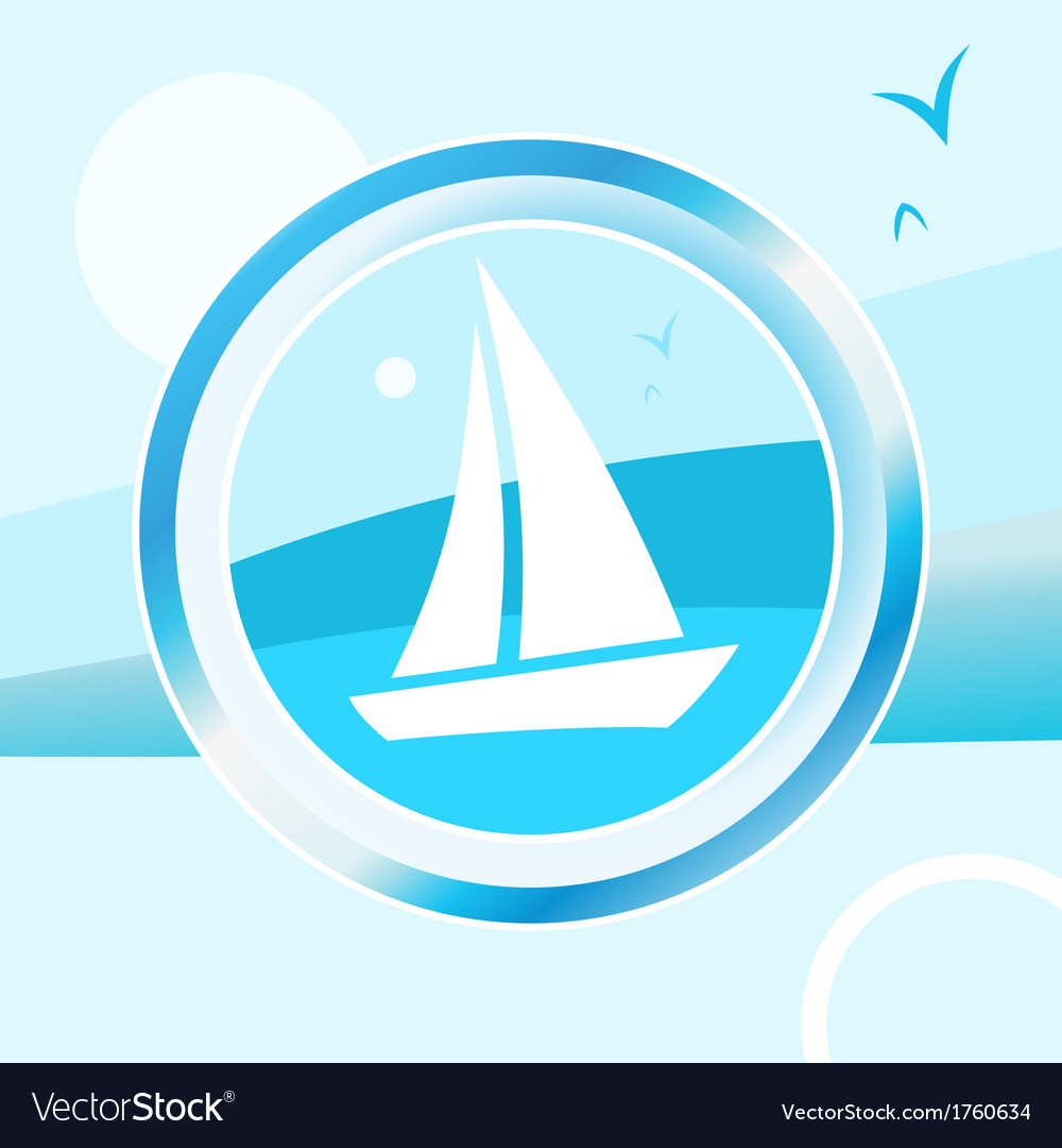 Yacht trip vector | Price: 1 Credit (USD $1)