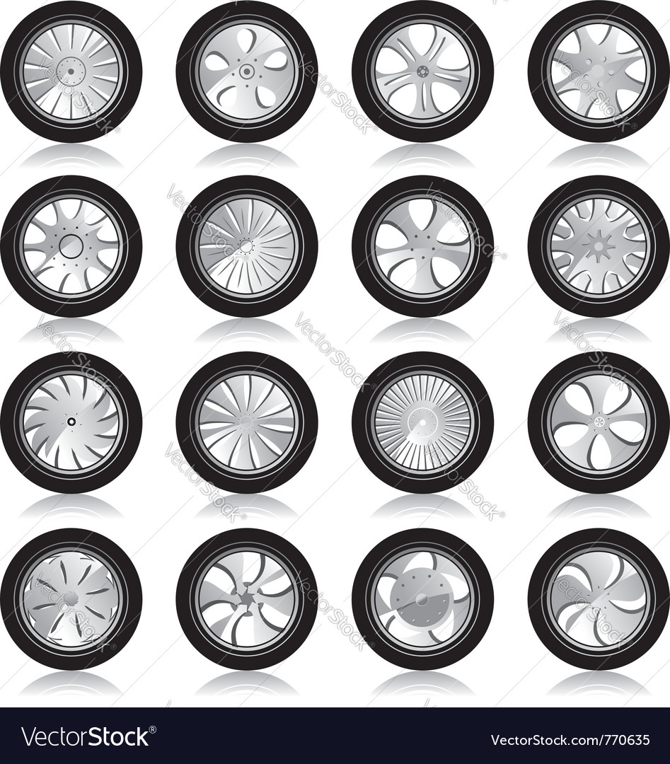 Alloy wheels vector | Price: 1 Credit (USD $1)