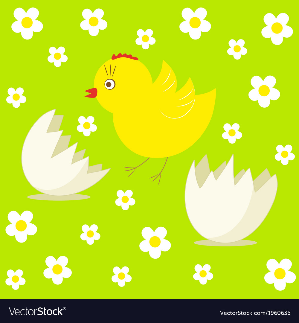 Cute chick and egg vector | Price: 1 Credit (USD $1)
