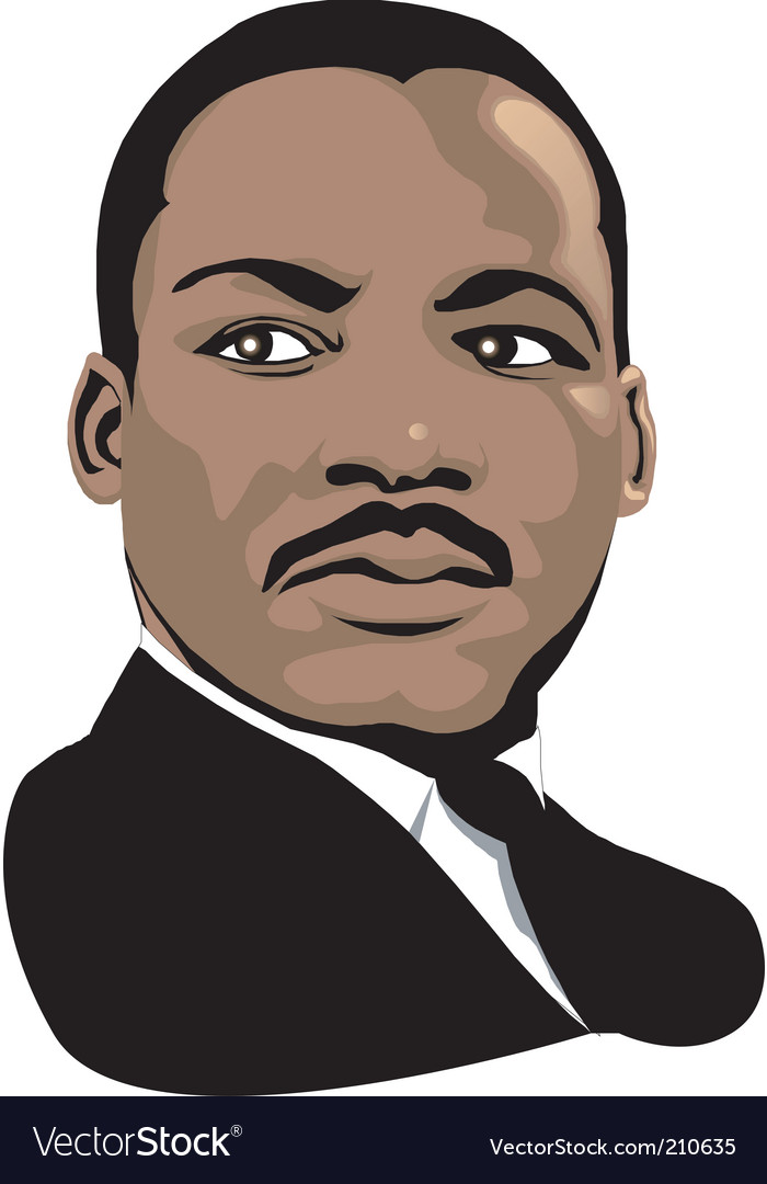 Martin luther king vector | Price: 1 Credit (USD $1)