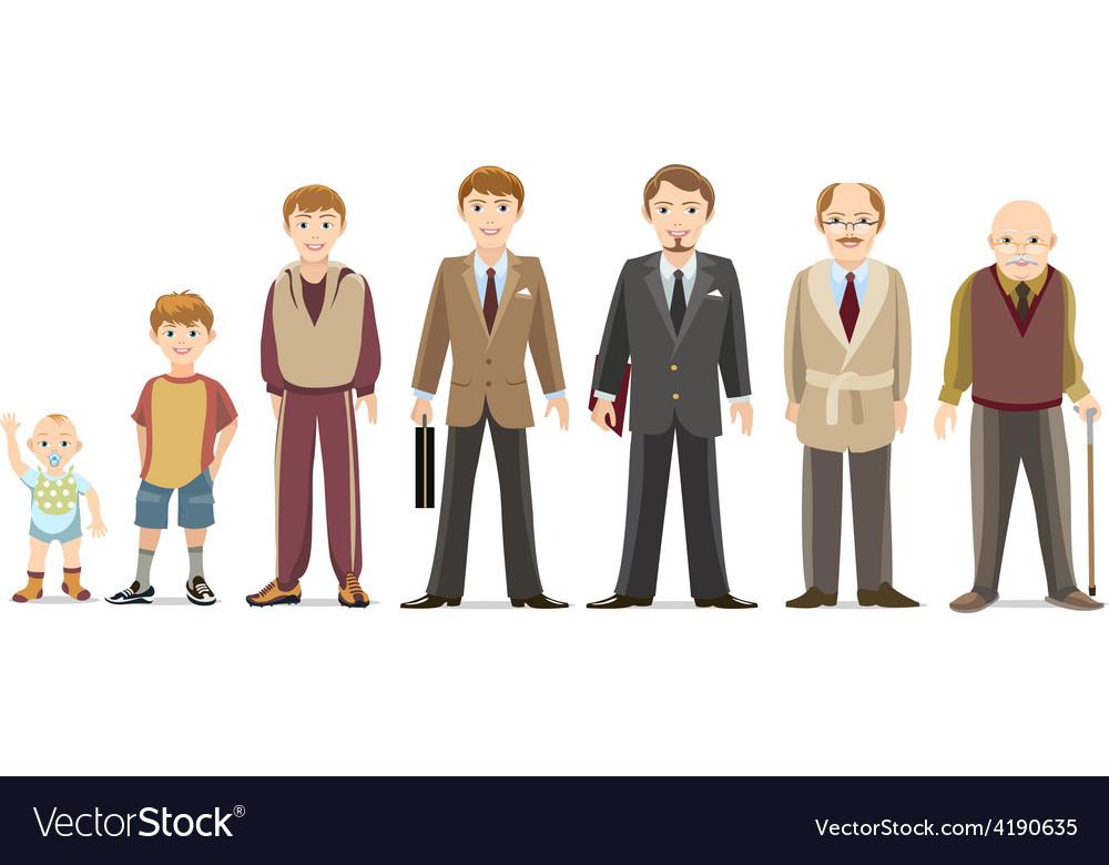 Men generations vector | Price: 1 Credit (USD $1)