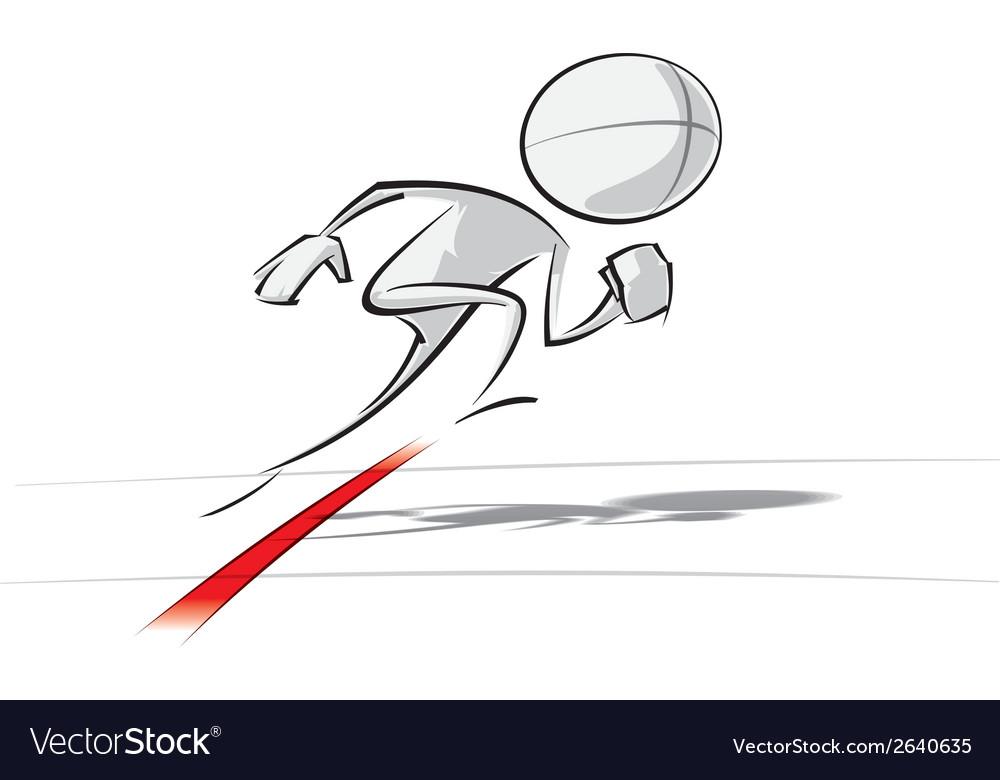 Simple people race go vector | Price: 1 Credit (USD $1)