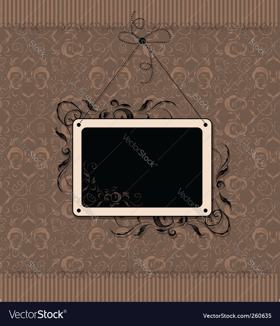 Vintage frame with seamless wallpaper vector | Price: 1 Credit (USD $1)