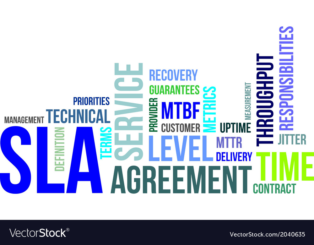 Word cloud sla vector | Price: 1 Credit (USD $1)