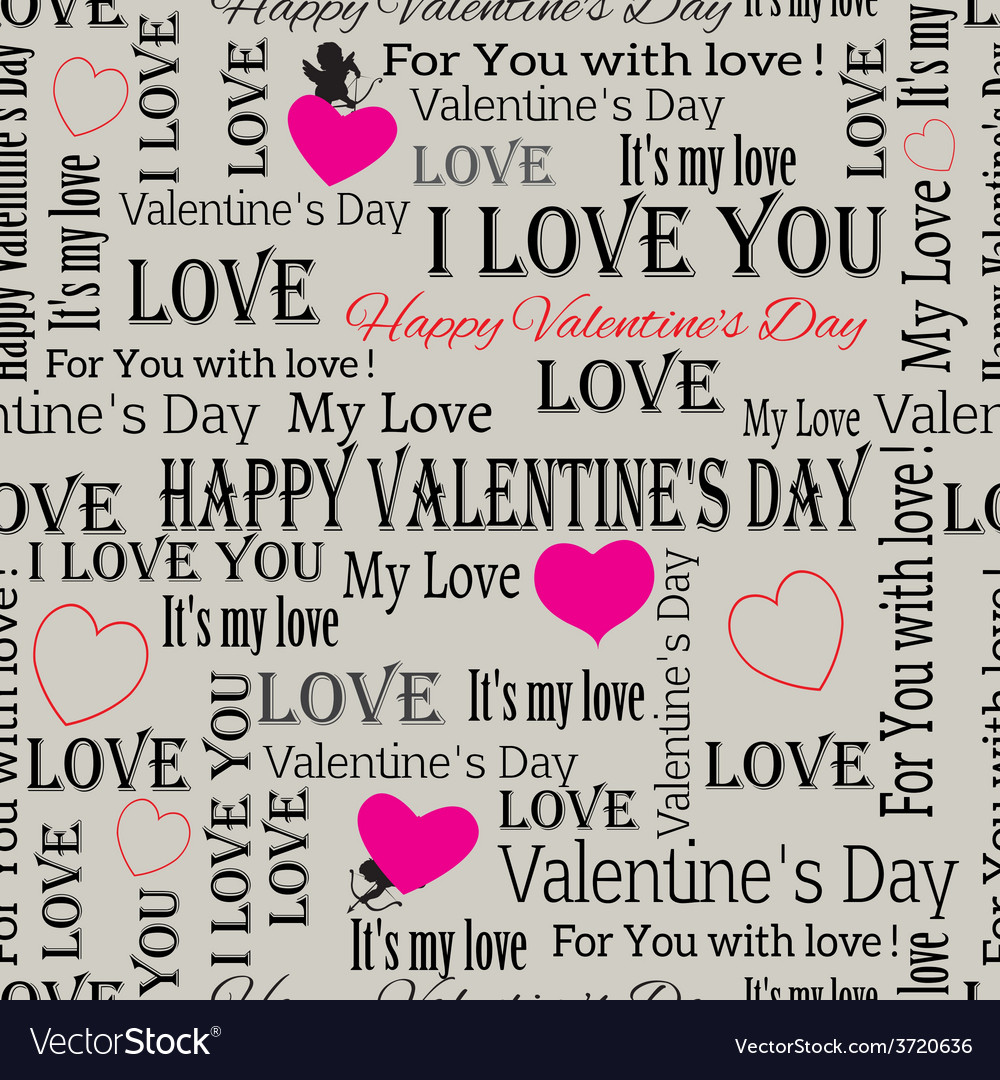 Background to the valentines day vintage set 6 vector | Price: 1 Credit (USD $1)