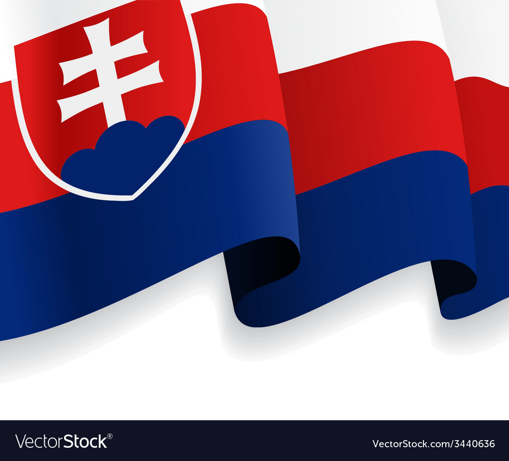 Background with waving slovak flag vector | Price: 1 Credit (USD $1)