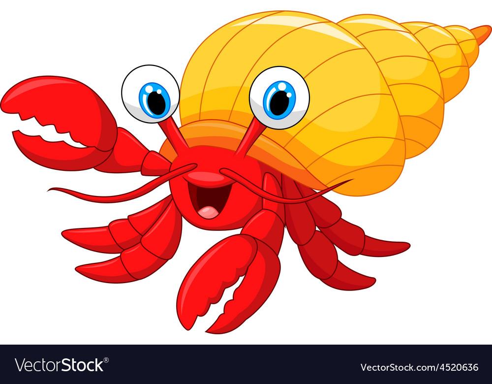 Cartoon hermit crab vector | Price: 1 Credit (USD $1)