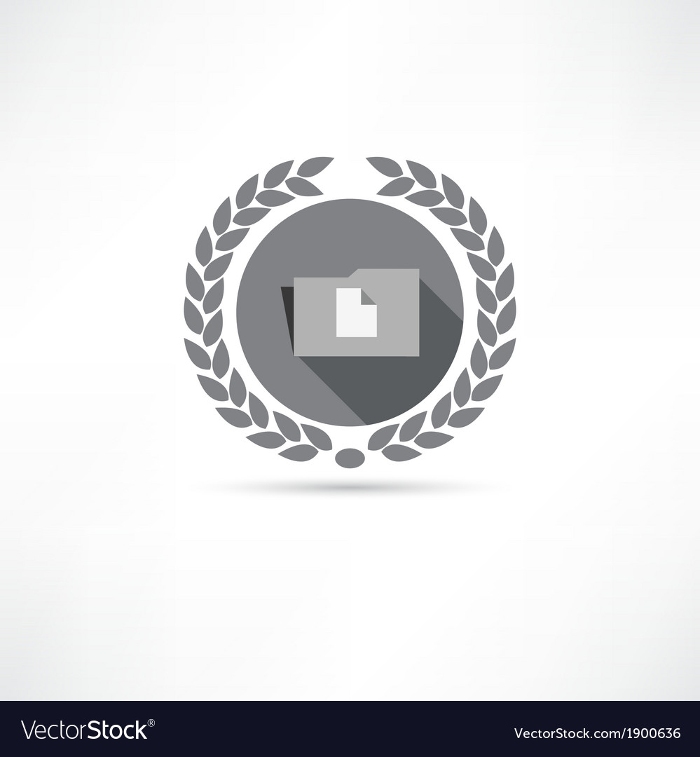 Folder with documents icon vector | Price: 1 Credit (USD $1)