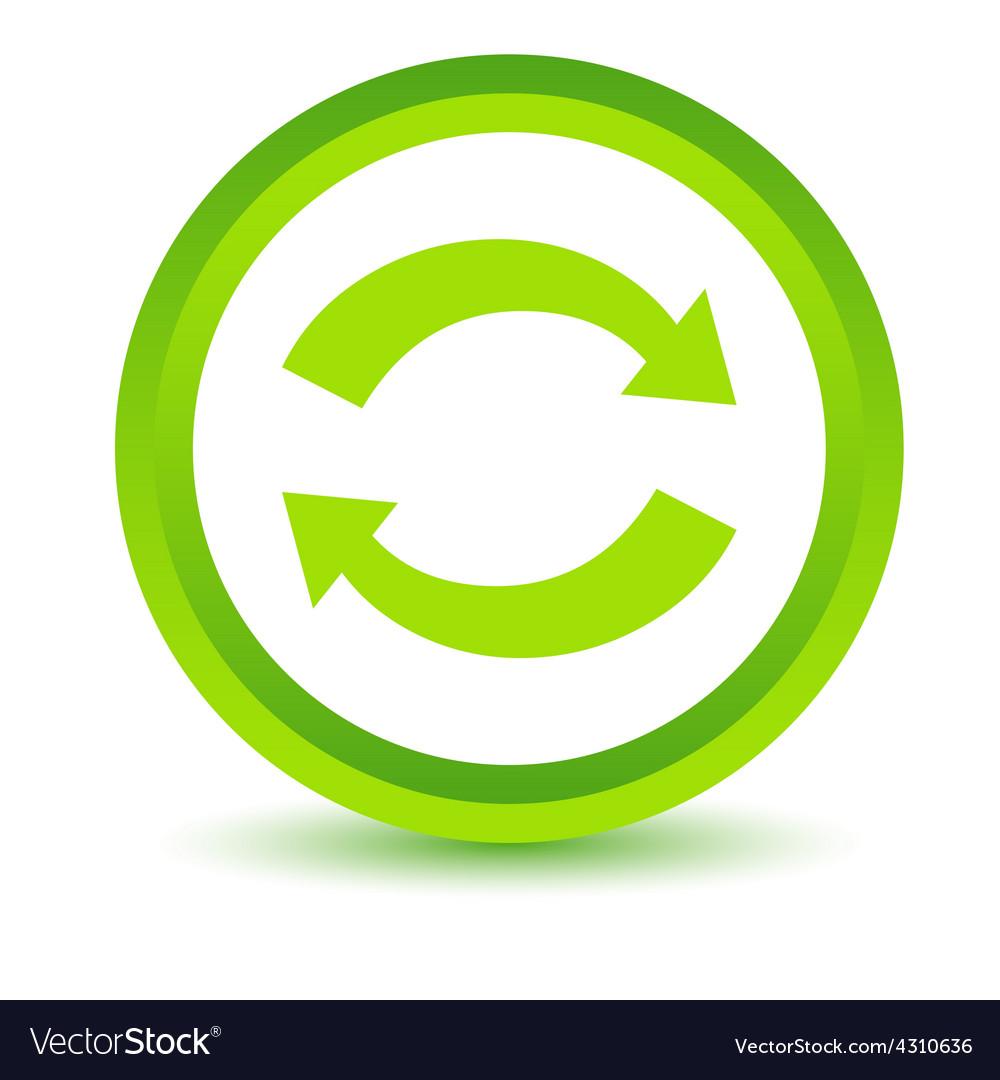 Green synchronization icon vector | Price: 1 Credit (USD $1)