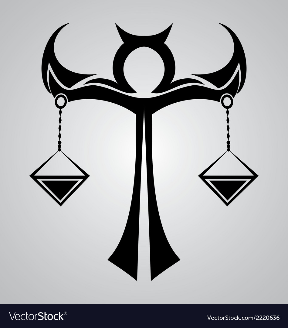 Libra sign tattoo design vector | Price: 1 Credit (USD $1)