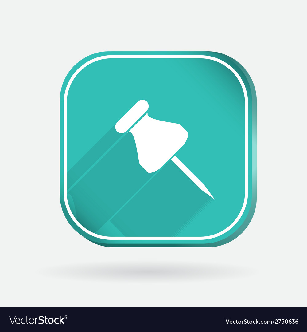 Pin for papers color square icon vector | Price: 1 Credit (USD $1)