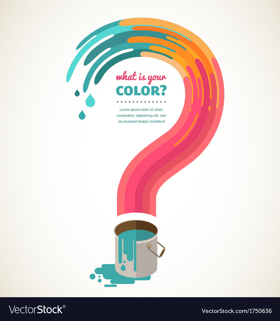 Question mark - color splash creative concept vector | Price: 1 Credit (USD $1)