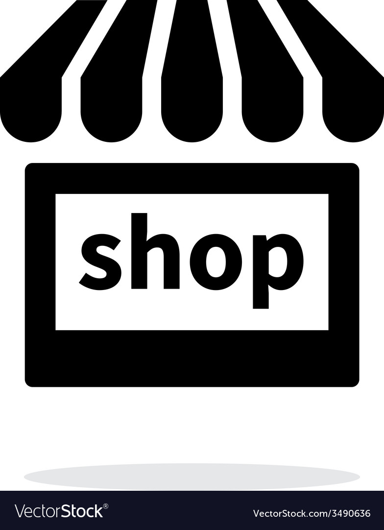 Shop icon on white background vector