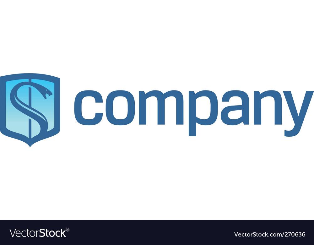 Snake on shield logo vector | Price: 1 Credit (USD $1)