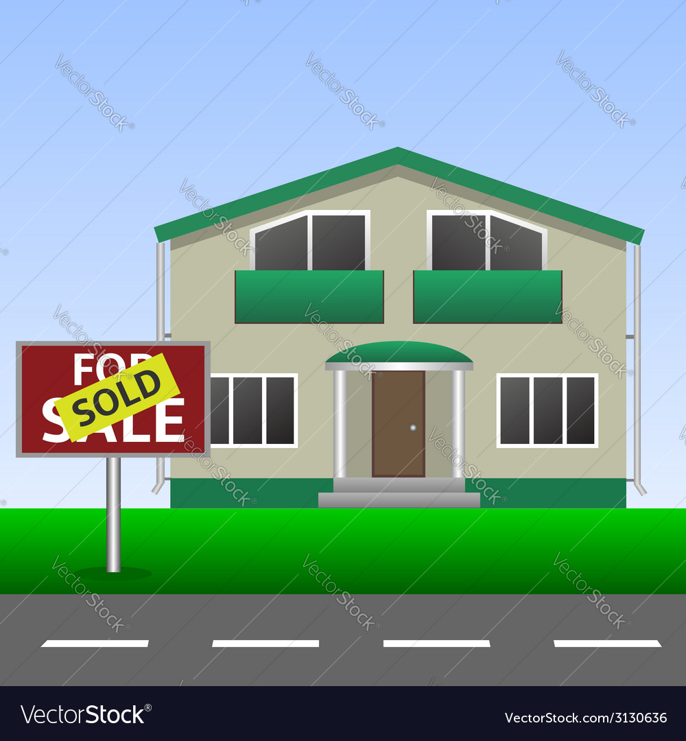 Sold home sign vector | Price: 1 Credit (USD $1)