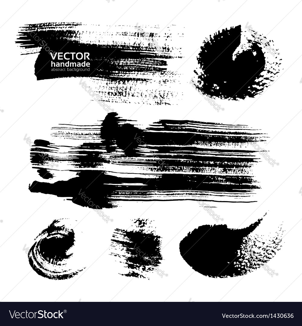Thick strokes of black paint on textured paper vector | Price: 1 Credit (USD $1)