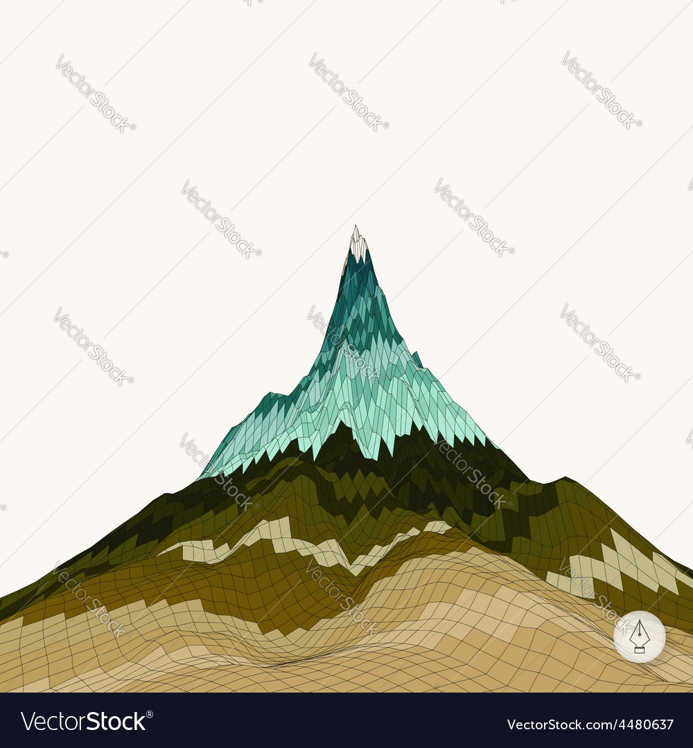 Abstract background with mountain mosaic vector | Price: 1 Credit (USD $1)