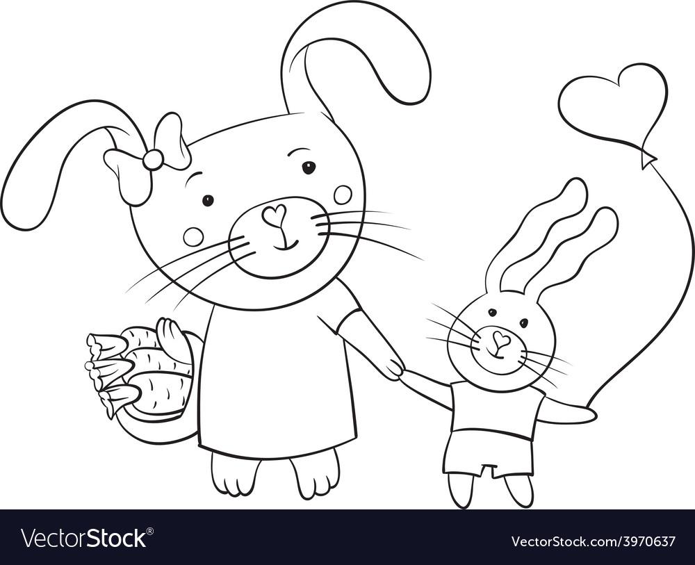 Bunnies vector | Price: 1 Credit (USD $1)