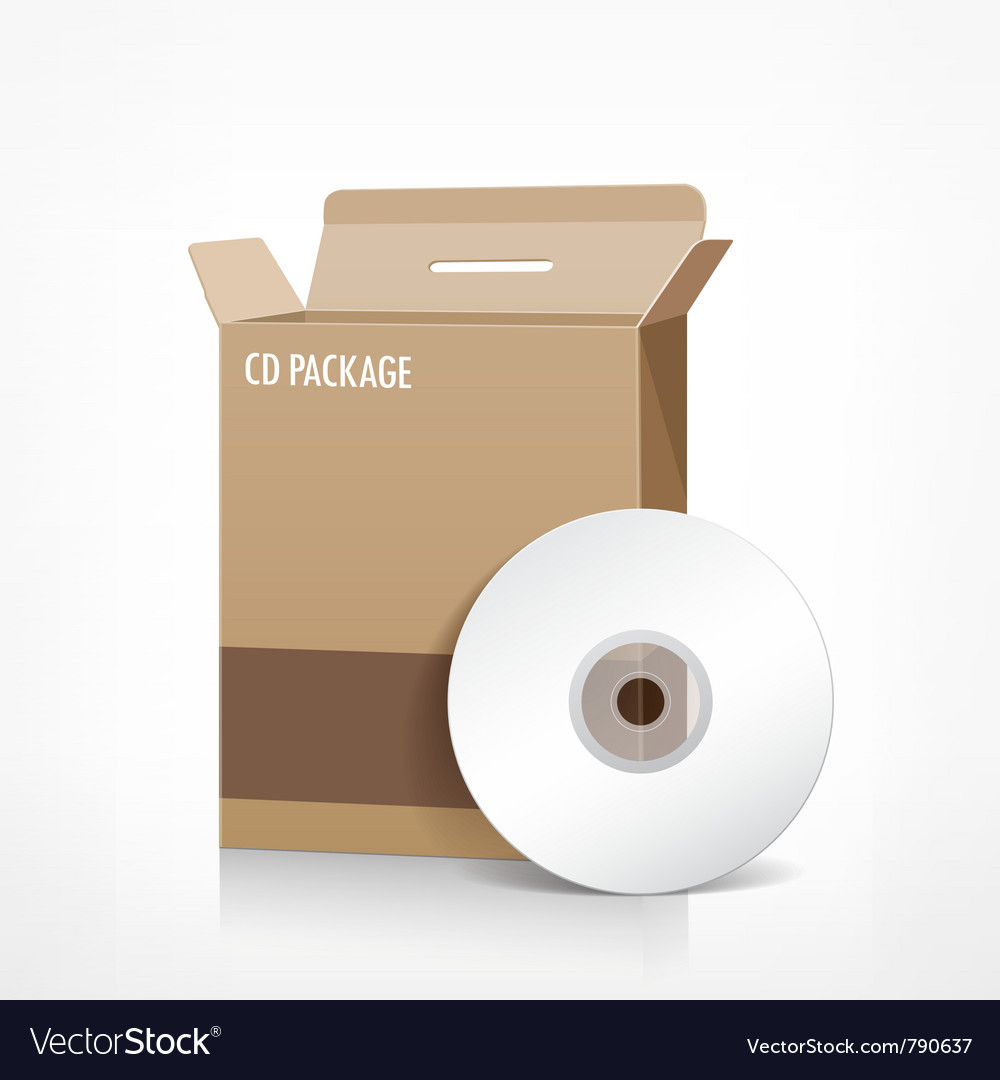 Cd box package vector | Price: 3 Credit (USD $3)