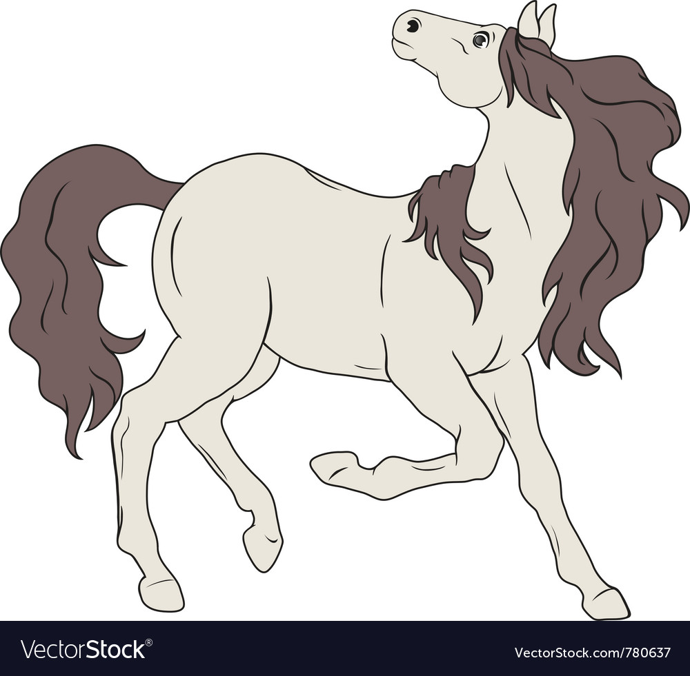 Horse without ammunition vector | Price: 1 Credit (USD $1)