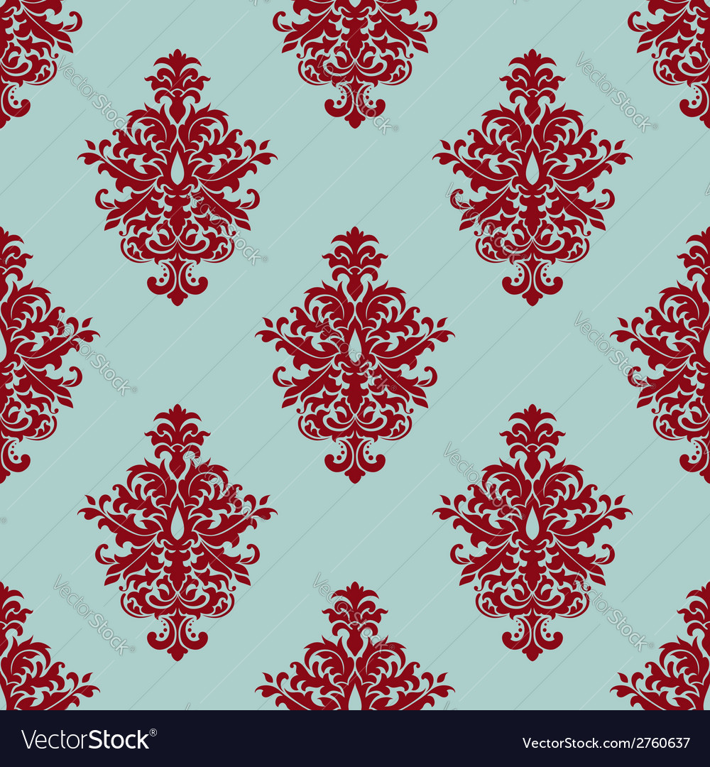 Retro maroon or crimson seamless pattern vector | Price: 1 Credit (USD $1)