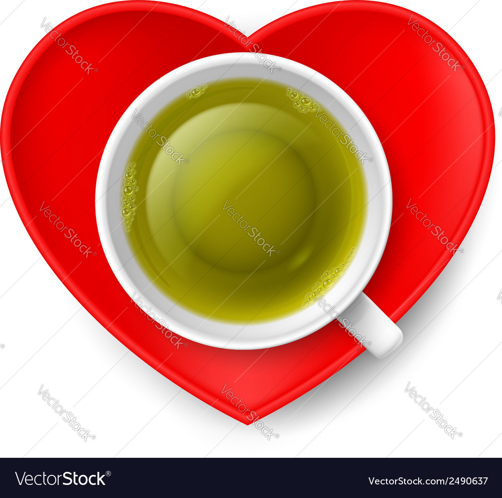 Romantic tea drinking vector | Price: 1 Credit (USD $1)