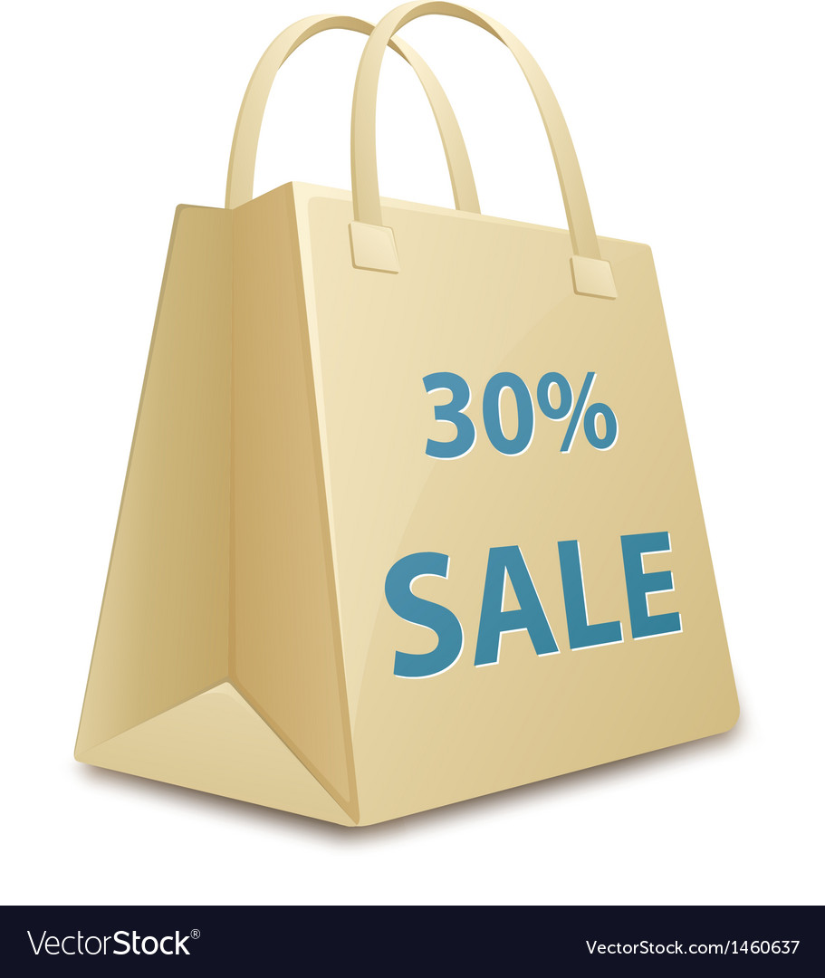 Sale shopping bag vector | Price: 1 Credit (USD $1)