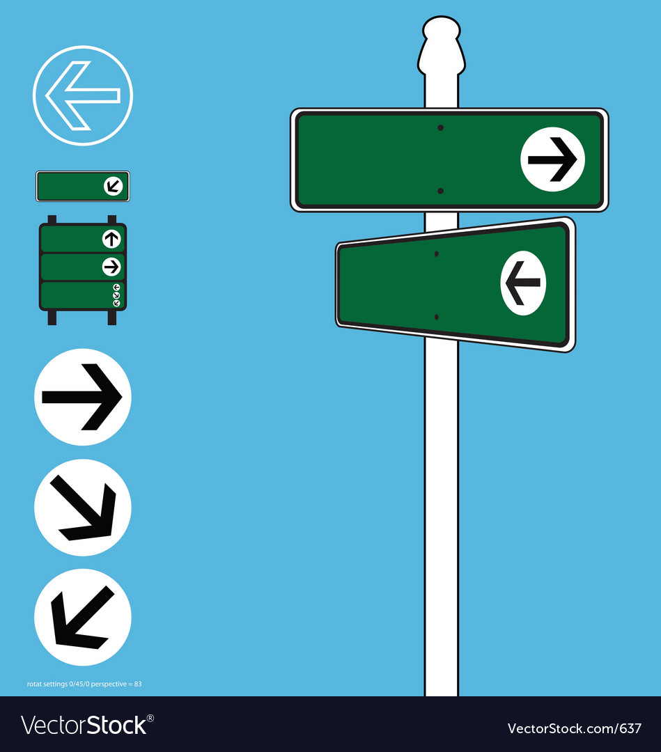 Street sign elements vector | Price: 1 Credit (USD $1)