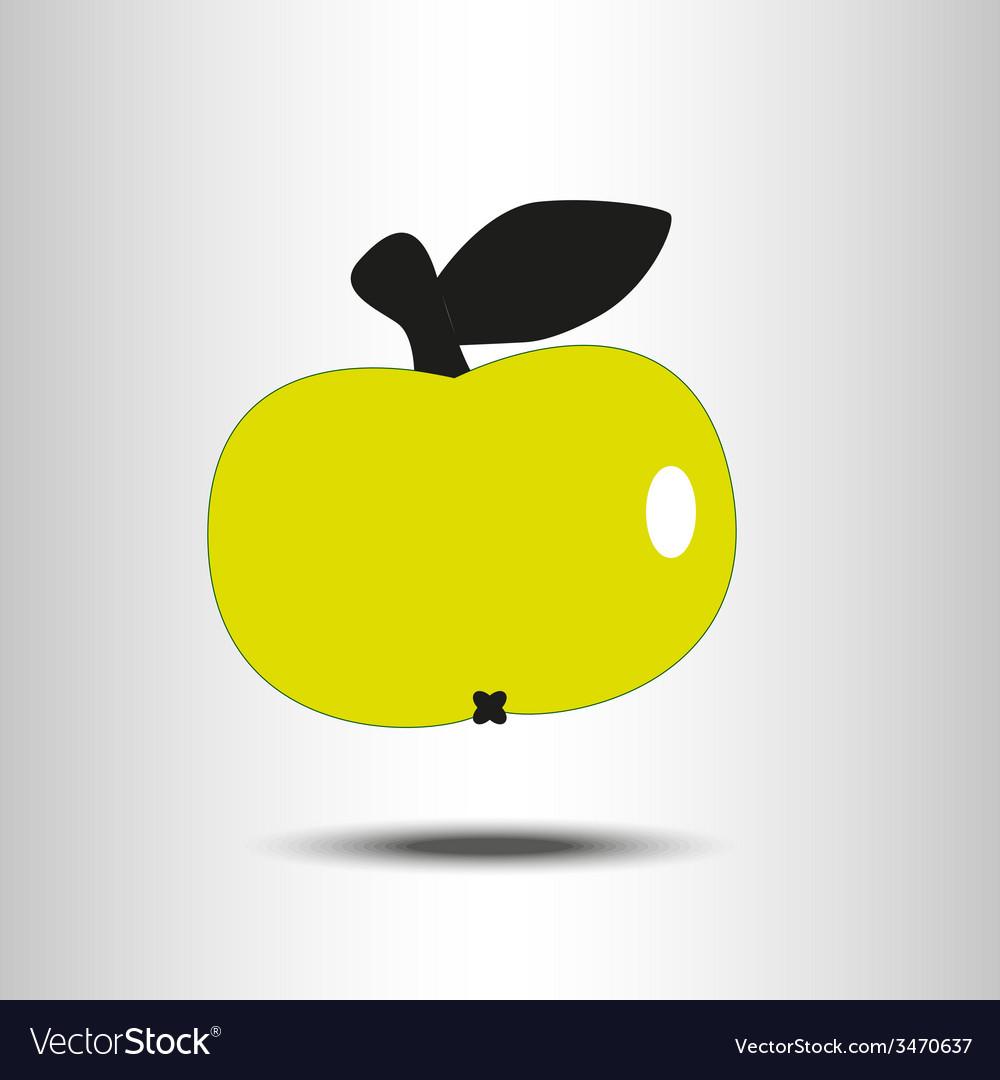 Yellow apple vector | Price: 1 Credit (USD $1)