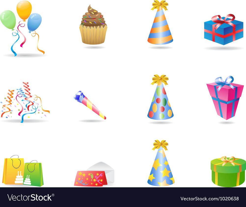 Birthday icon vector | Price: 1 Credit (USD $1)
