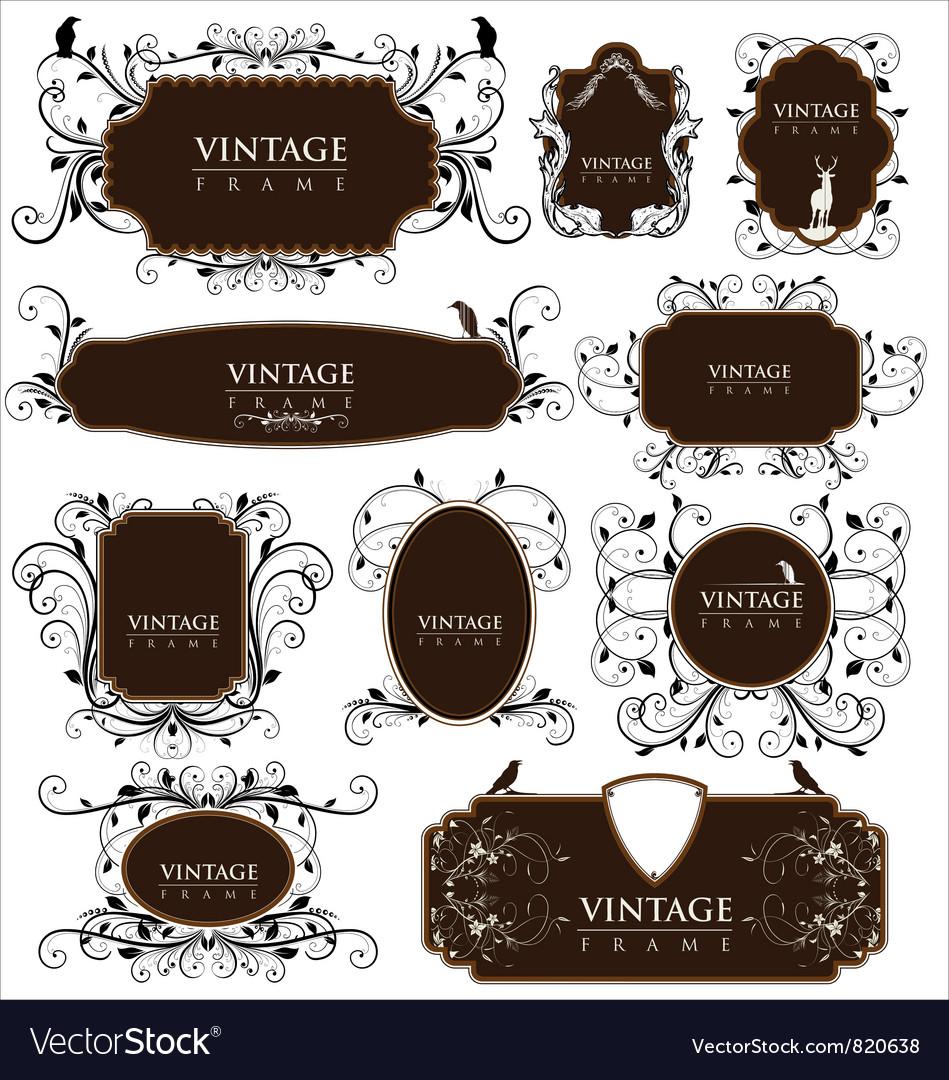 Empty vintage labels vector | Price: 1 Credit (USD $1)