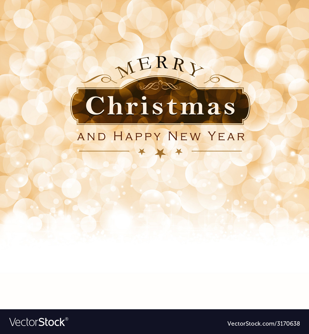 Merry christmas typography with blinking vector | Price: 1 Credit (USD $1)