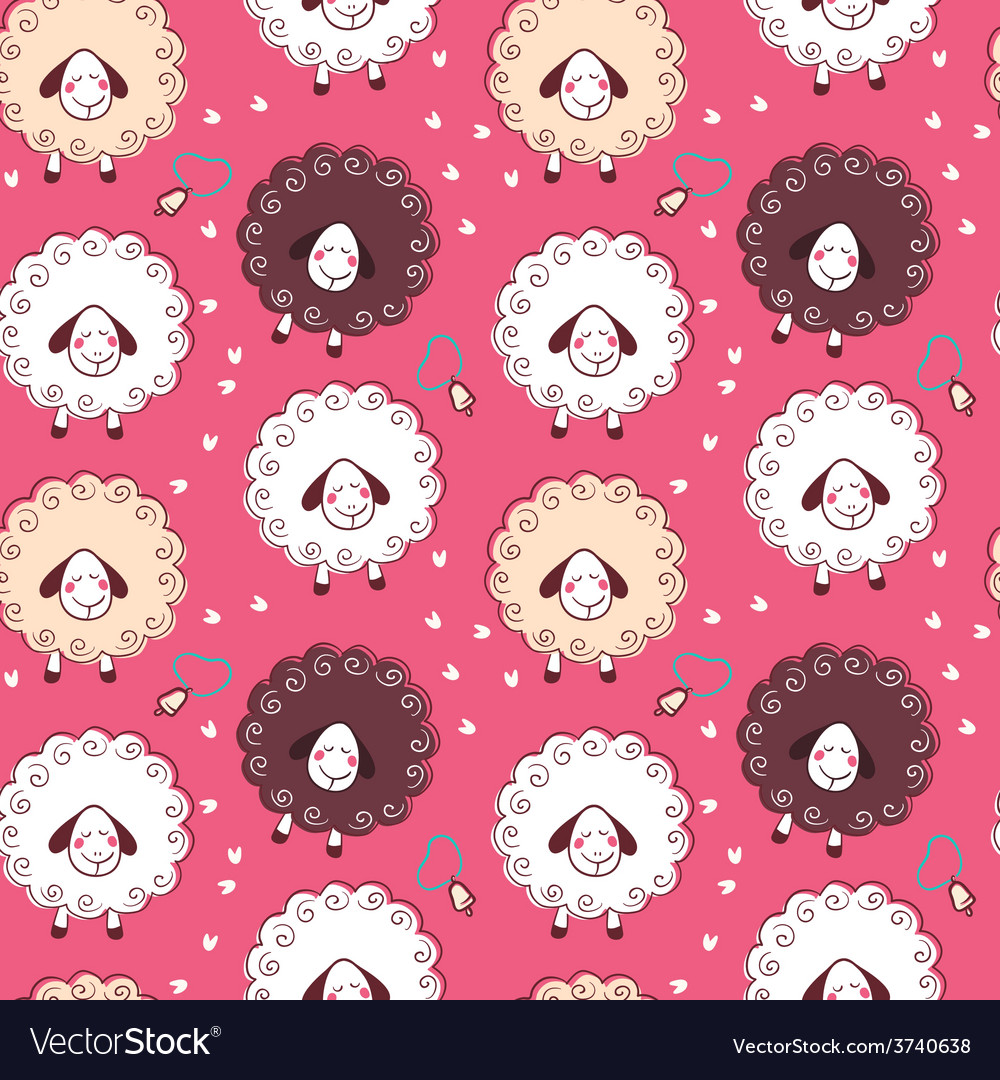 Sheep and bells vector | Price: 1 Credit (USD $1)