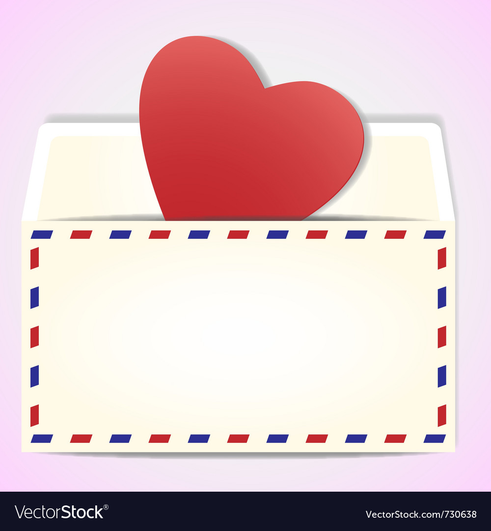 Valentines day greeting letter vector | Price: 1 Credit (USD $1)
