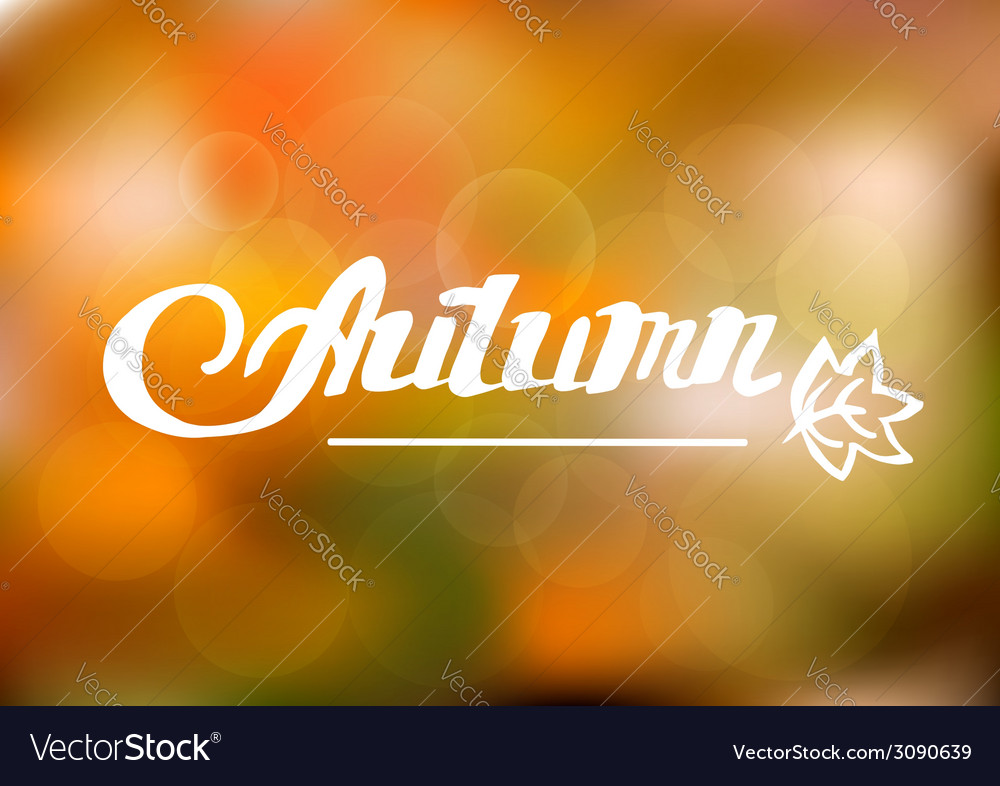 Abstract autumn background with hand drawn vector | Price: 1 Credit (USD $1)