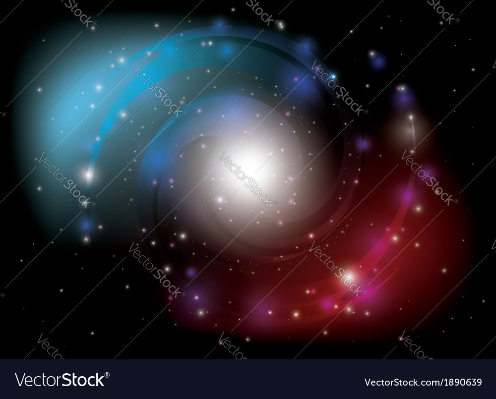 Colorful spiral galaxy vector | Price: 1 Credit (USD $1)