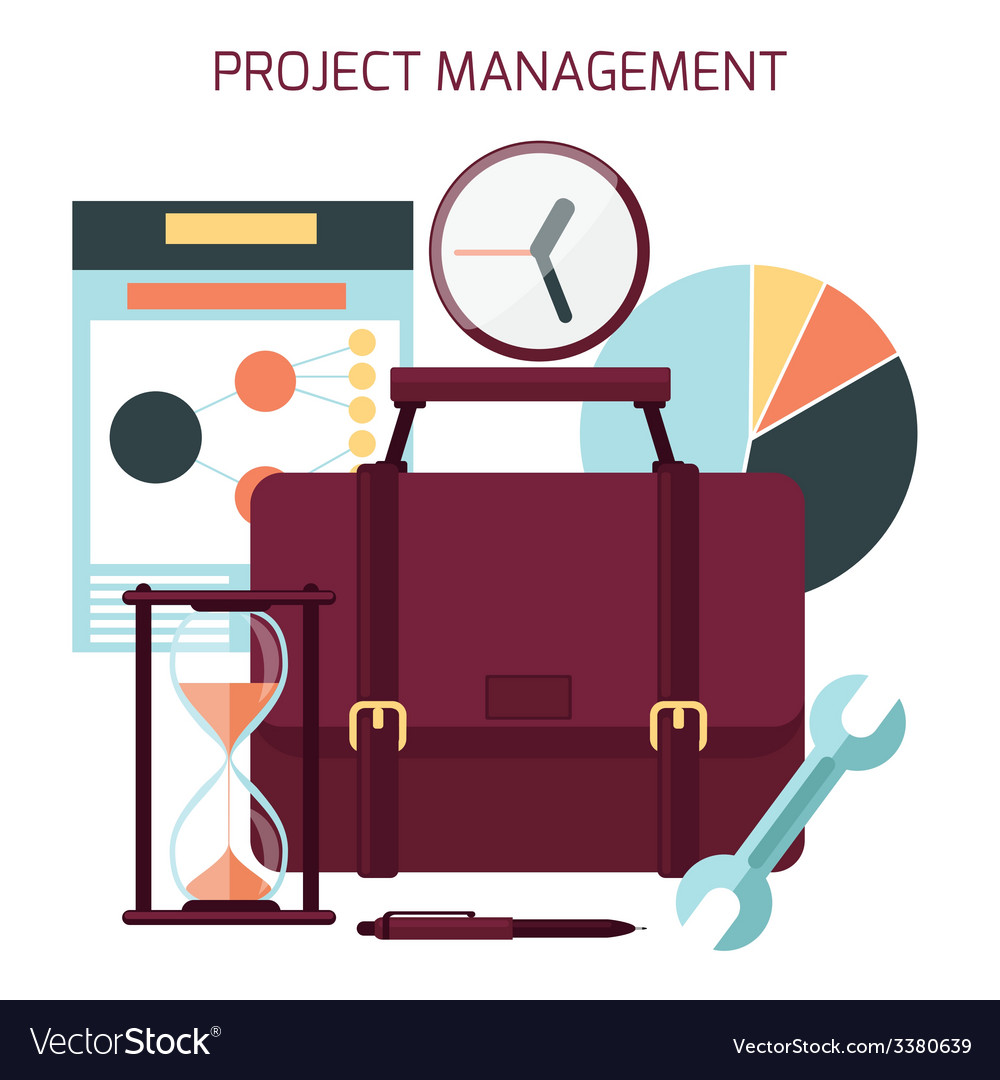 Flat design of project management vector | Price: 1 Credit (USD $1)