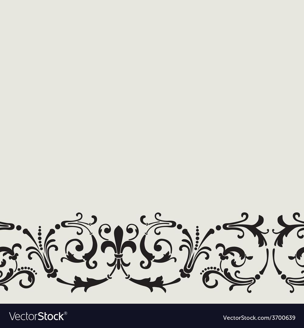 Floral vintage seamless pattern vector   Price: 1 Credit (USD $1)
