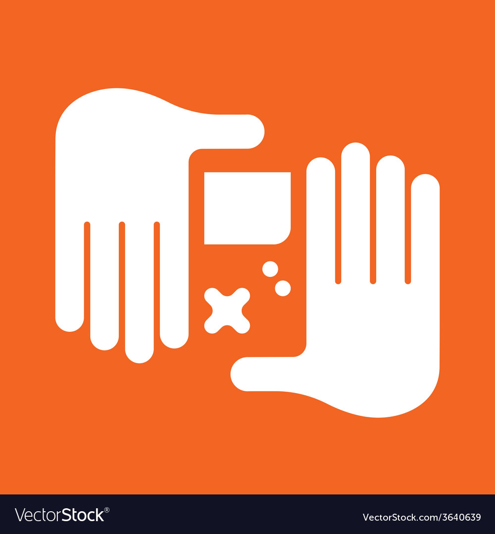Hand game console vector | Price: 1 Credit (USD $1)