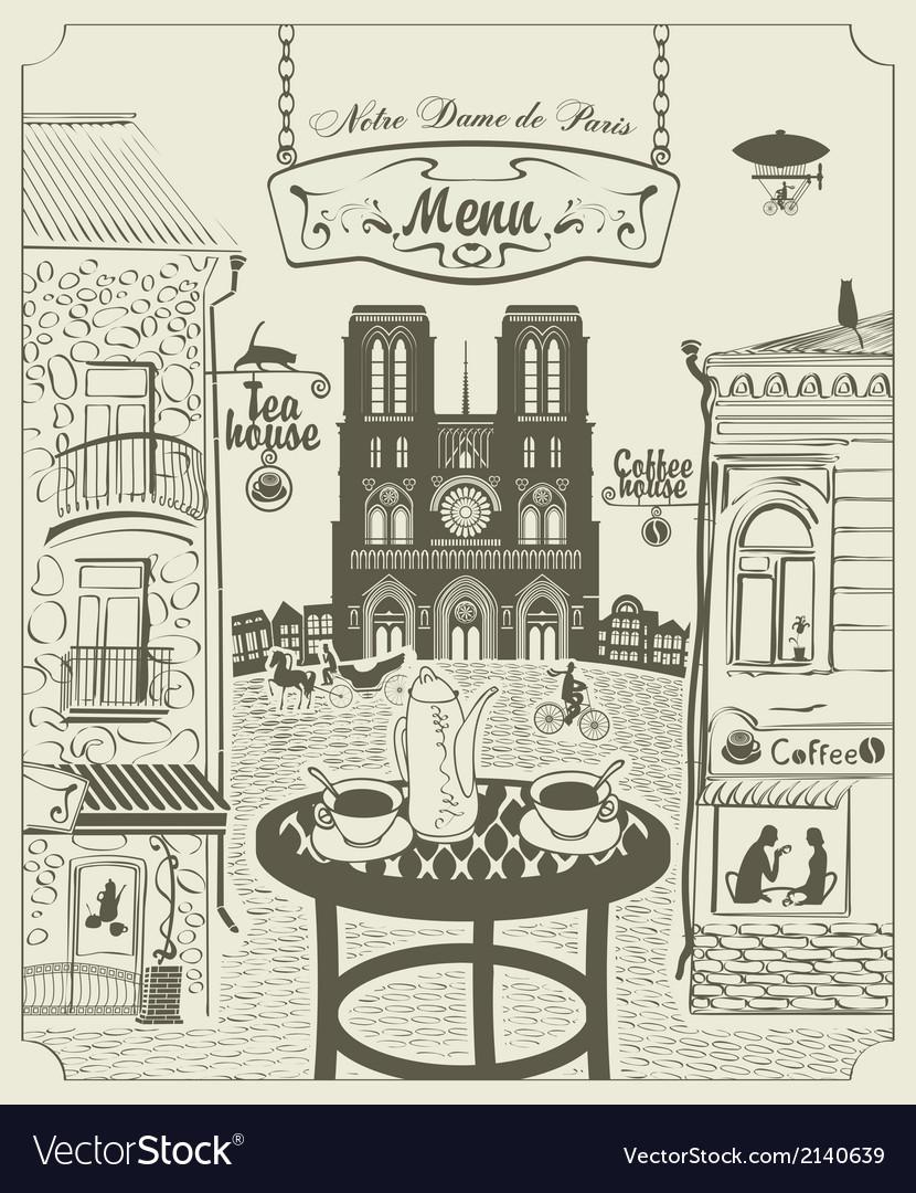 Parisian street vector | Price: 3 Credit (USD $3)