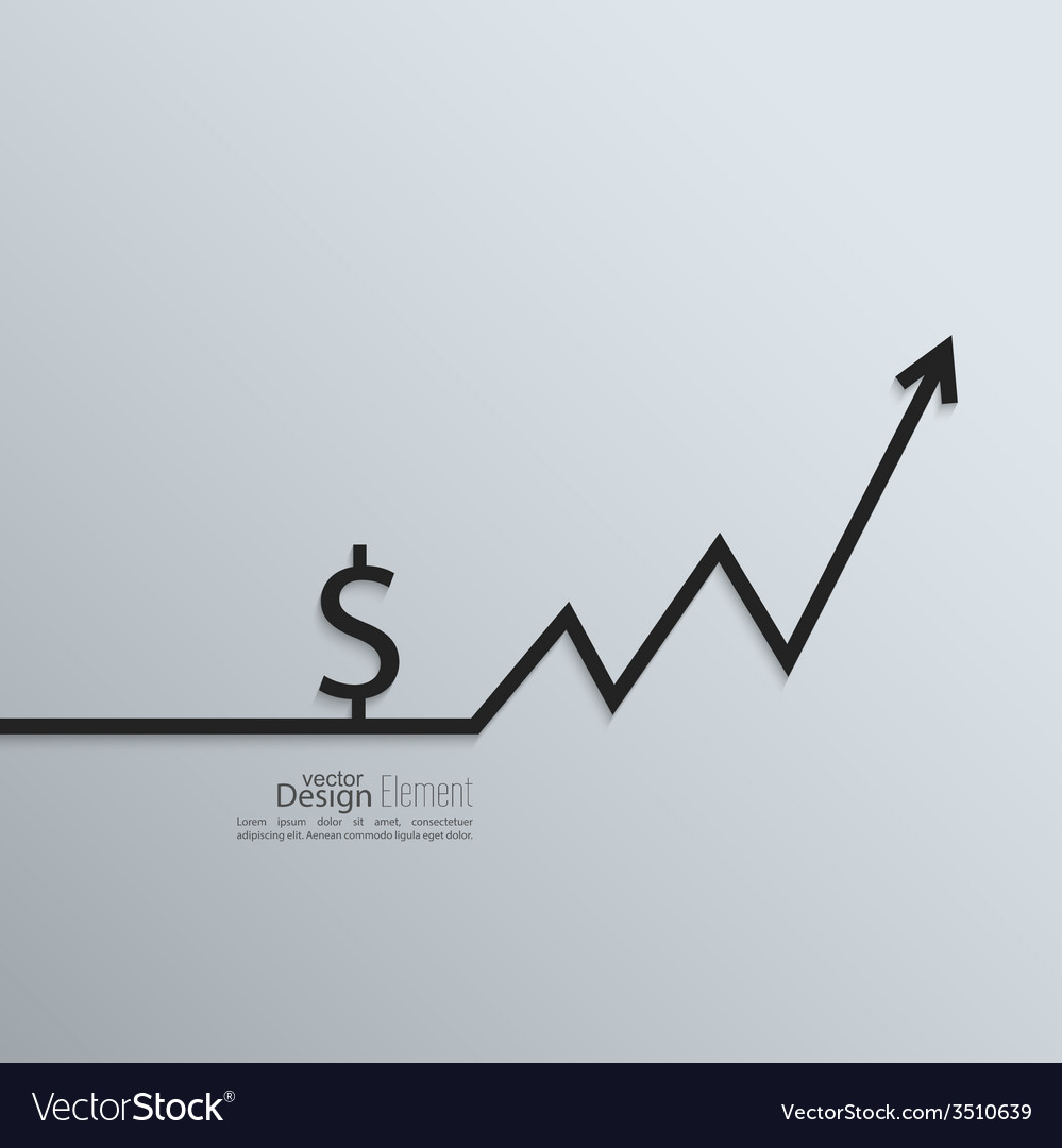 Ribbon a dollar sign and exchange the curve arrow vector | Price: 1 Credit (USD $1)