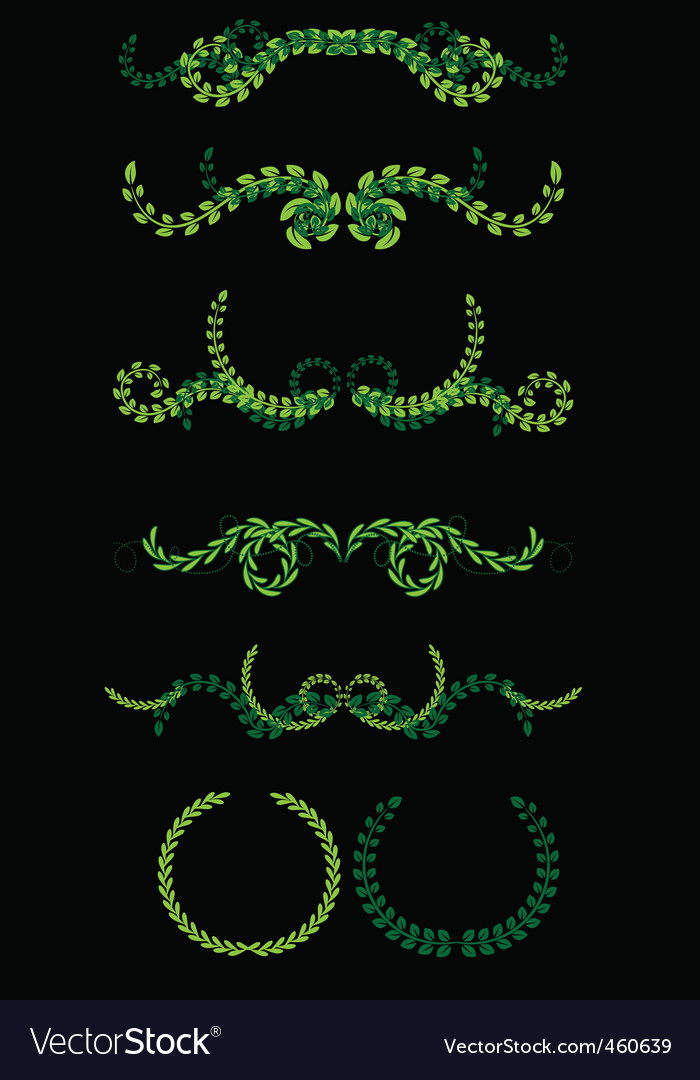 Set of wreaths vector | Price: 1 Credit (USD $1)