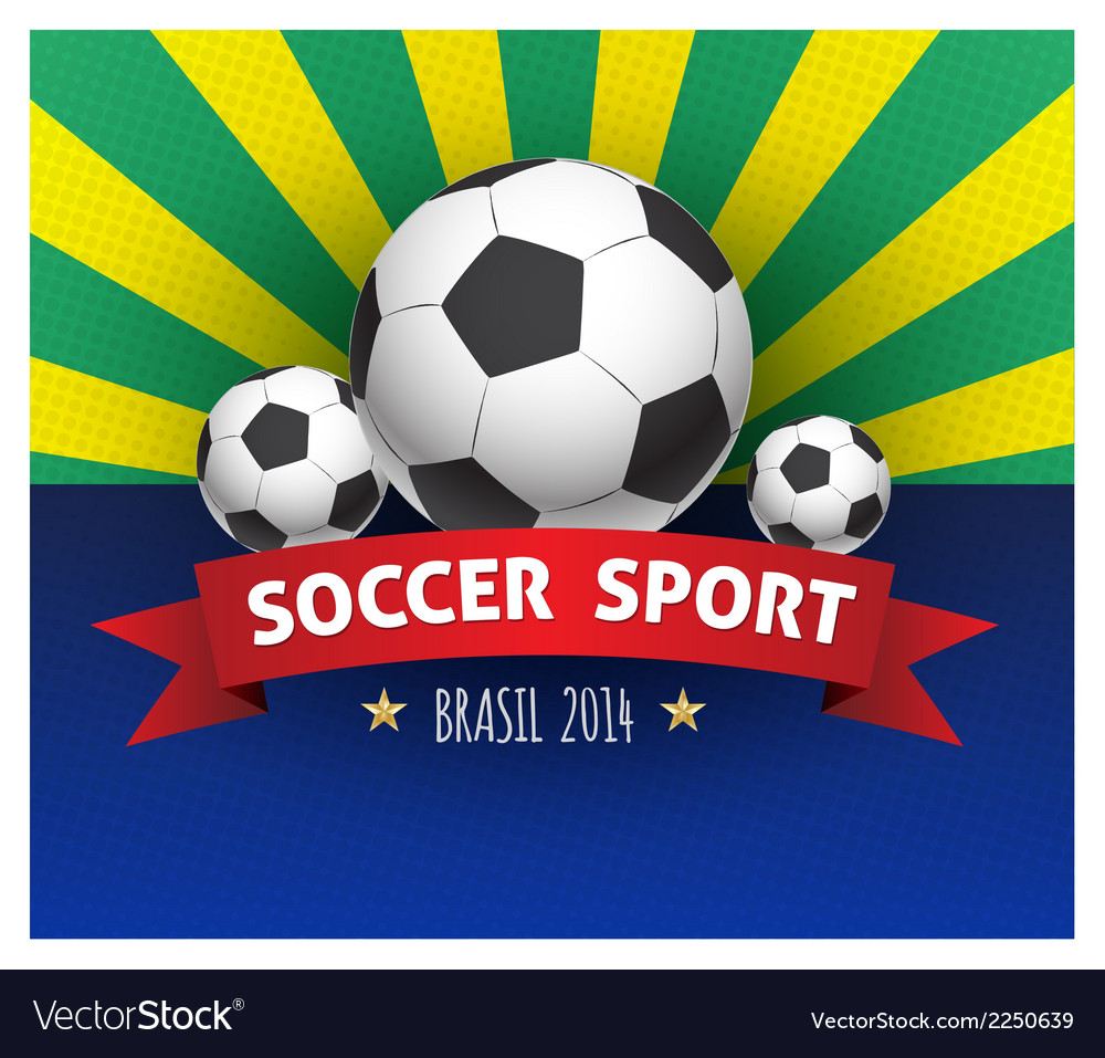 Soccer poster brazil 2014 vector | Price: 1 Credit (USD $1)