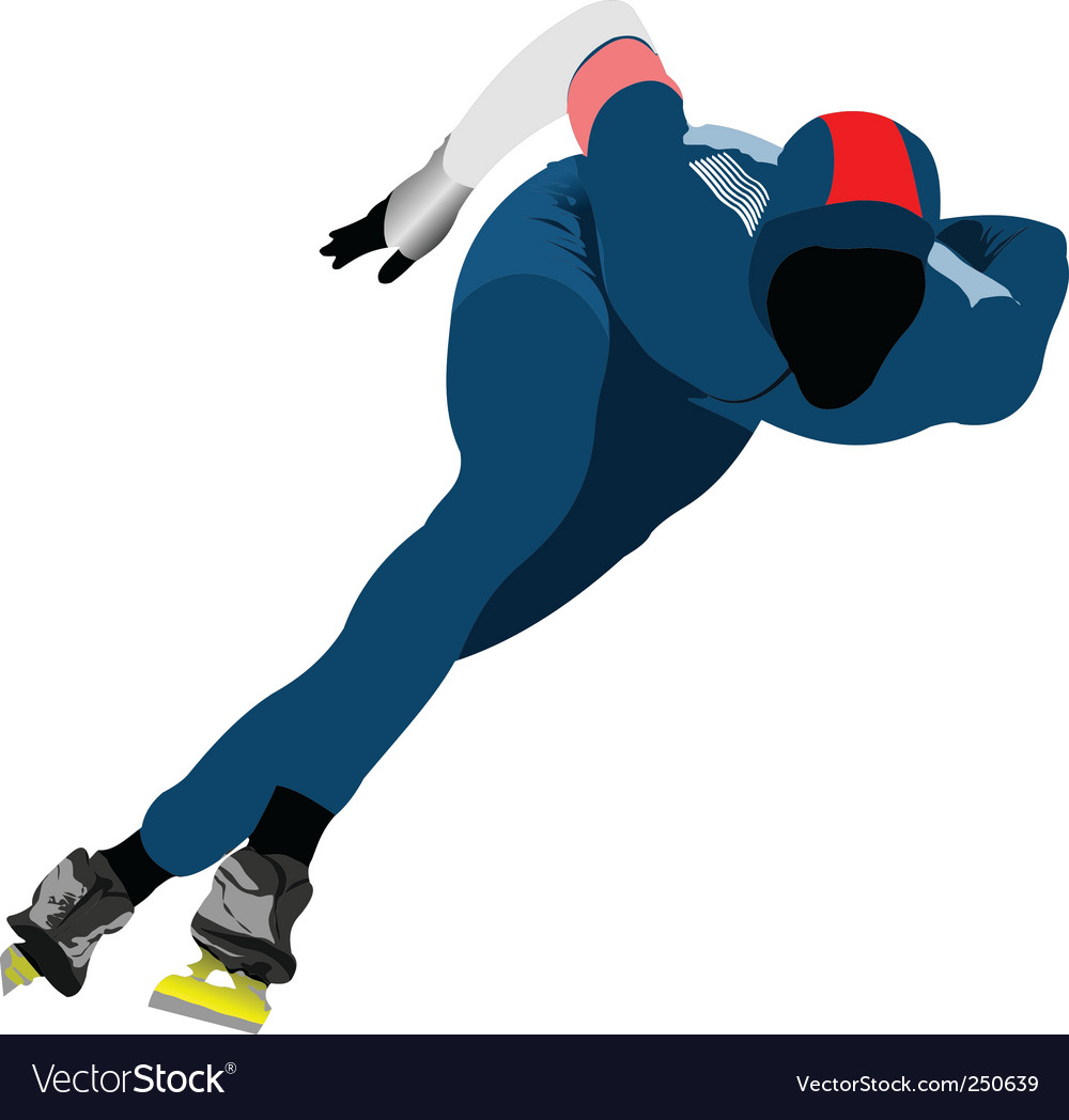 Speed skating vector | Price: 1 Credit (USD $1)