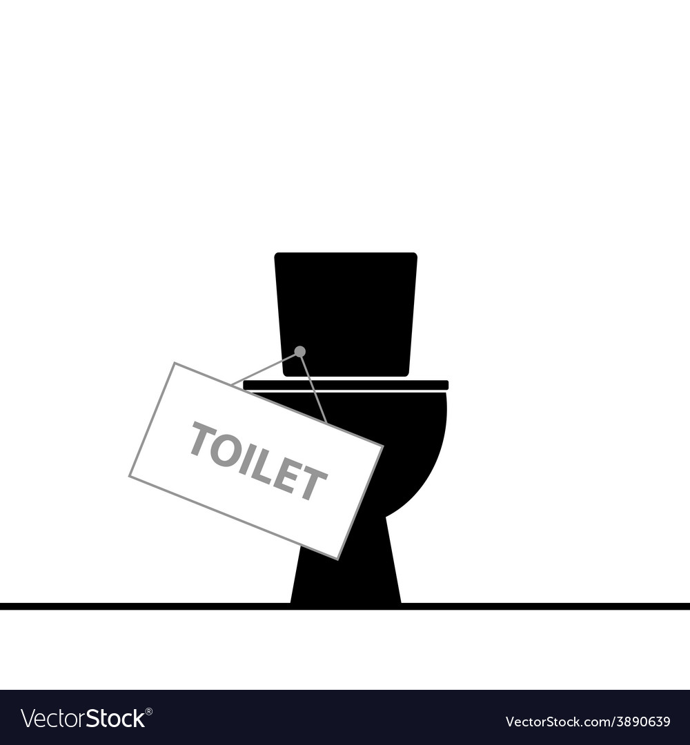 Toilet black vector | Price: 1 Credit (USD $1)