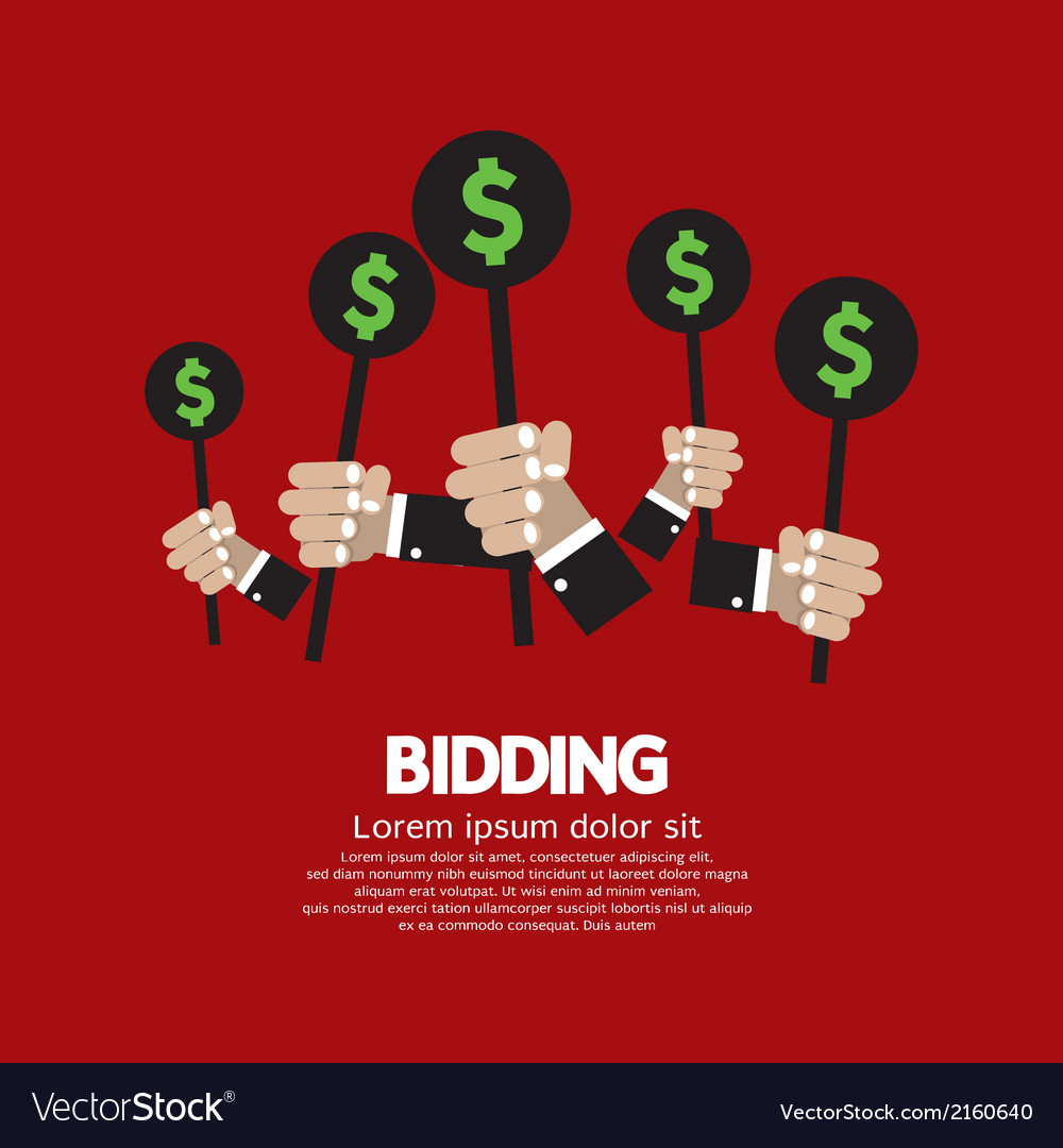 Bidding or auction concept vector | Price: 1 Credit (USD $1)