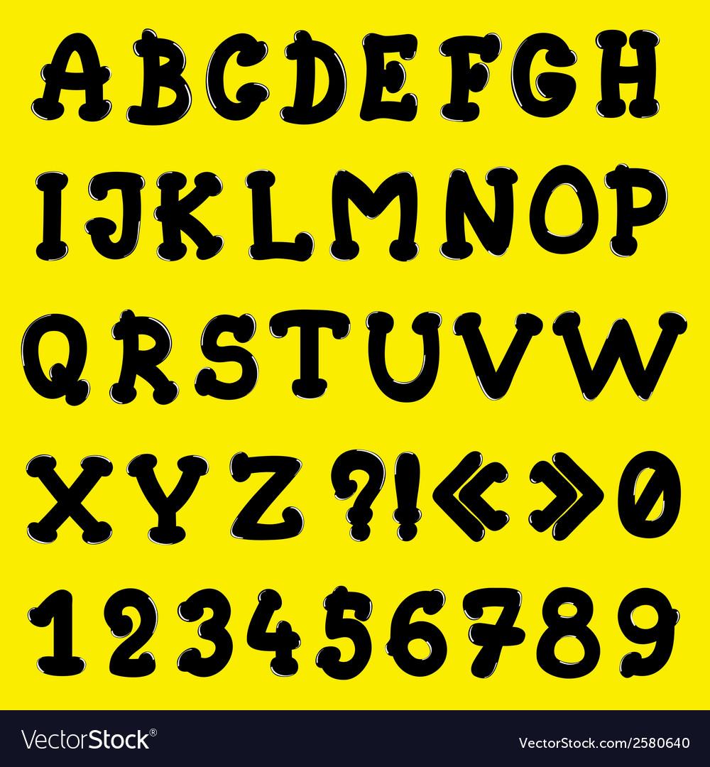 Cartoon alphabet vector | Price: 1 Credit (USD $1)