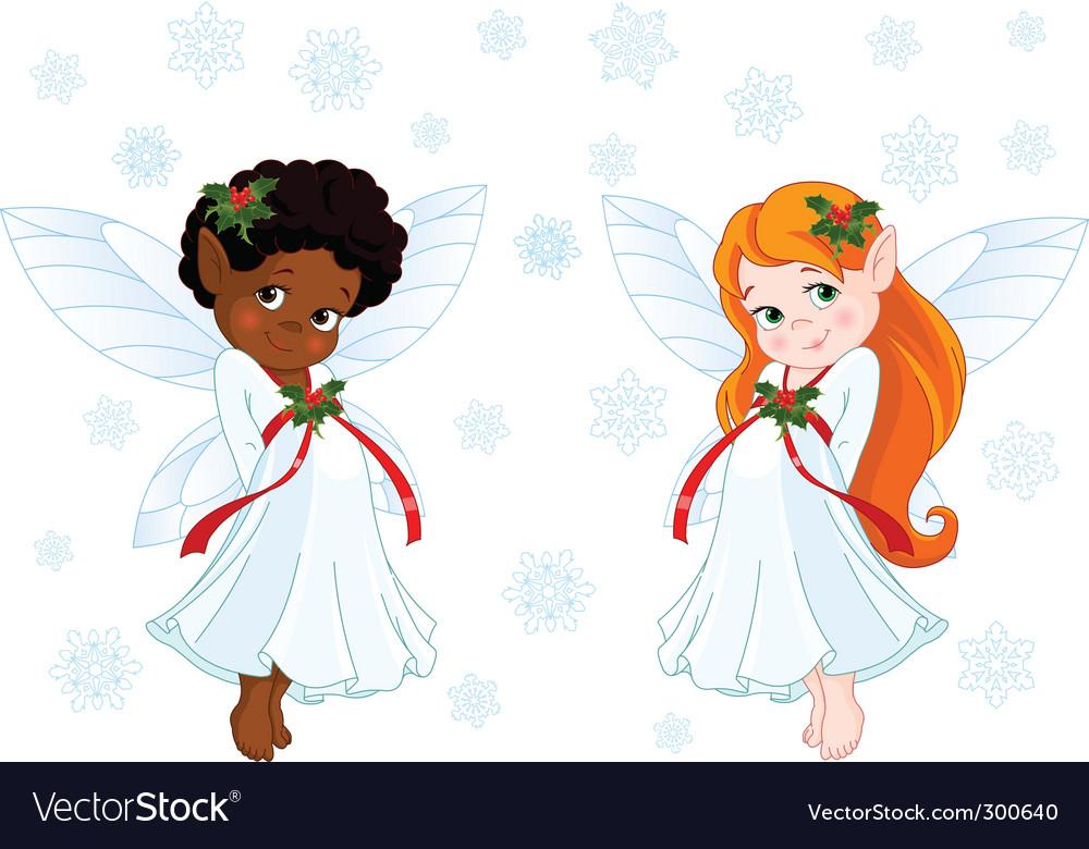 Christmas fairies vector | Price: 3 Credit (USD $3)
